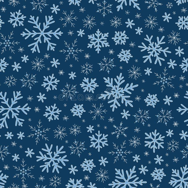 снежинки голубой картины безшовные иллюстрация штока