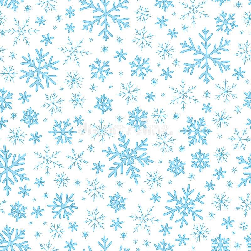 снежинки голубой картины безшовные бесплатная иллюстрация