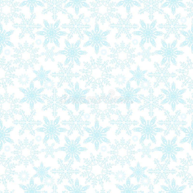 снежинки картины безшовные Новые Годы идут снег бесконечная предпосылка, зима повторяя фон рождества текстуры вектор бесплатная иллюстрация