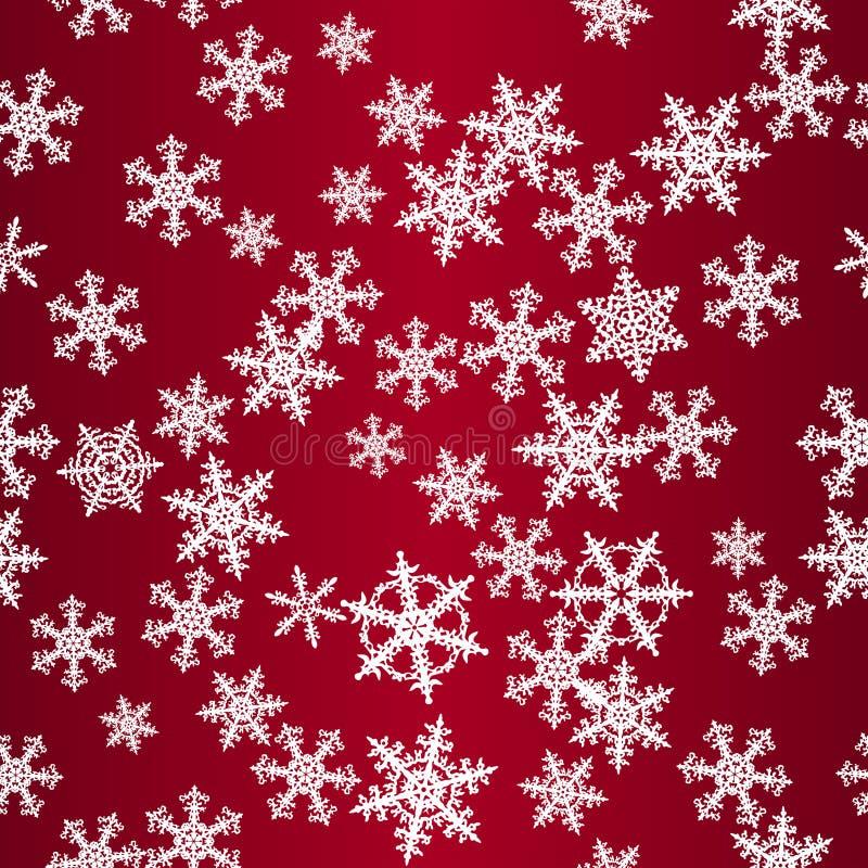 снежинки картины красные безшовные иллюстрация вектора