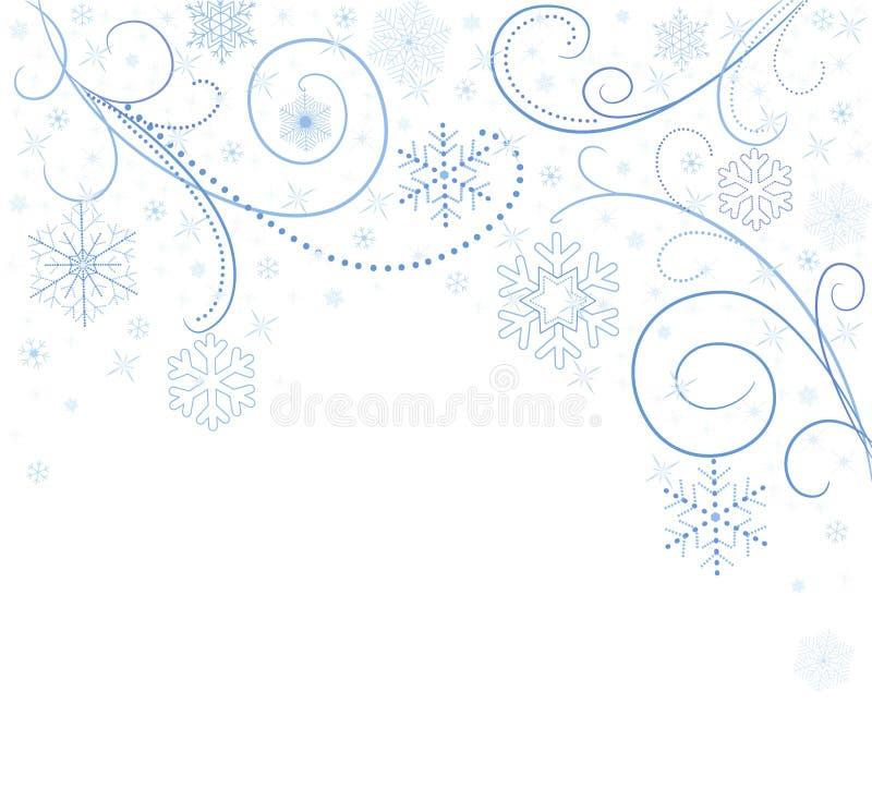 снежинки карточки белые иллюстрация штока