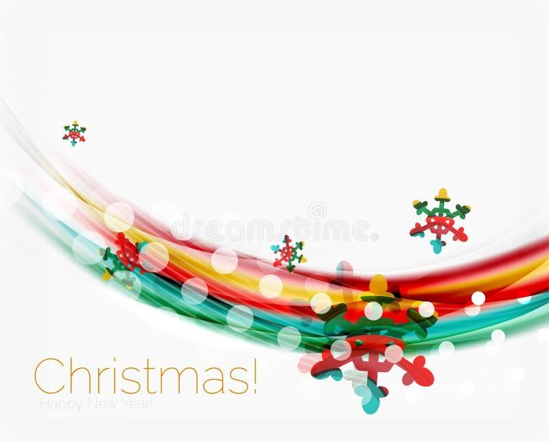Download Снежинки на волне выравниваются, предпосылка рождества и Нового Года Иллюстрация вектора - иллюстрации насчитывающей конструкция, энергия: 81805090