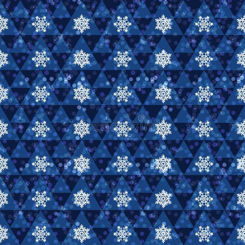 Снежинки на голубой предпосылке иллюстрация вектора