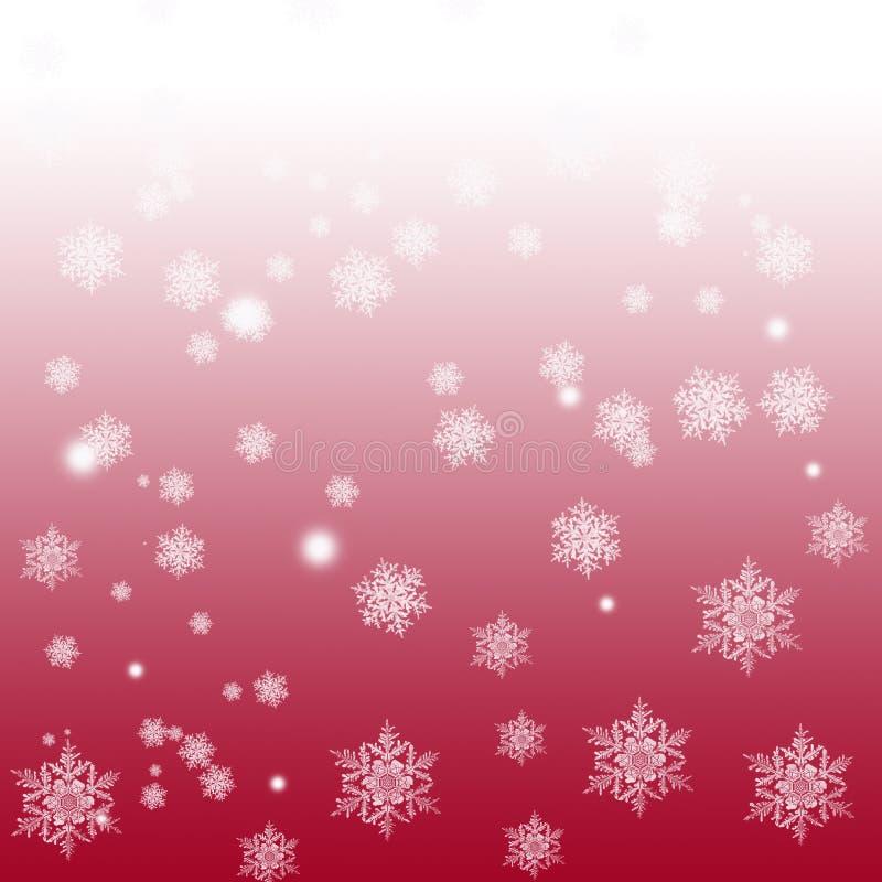 Снежинки на предпосылке градиента иллюстрация вектора