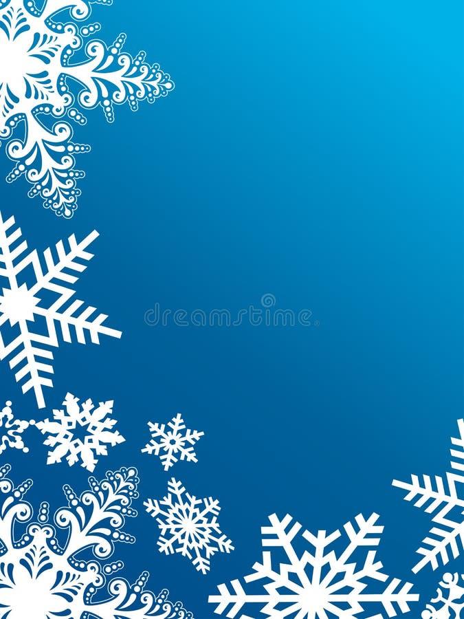 Снежинки на сини иллюстрация штока