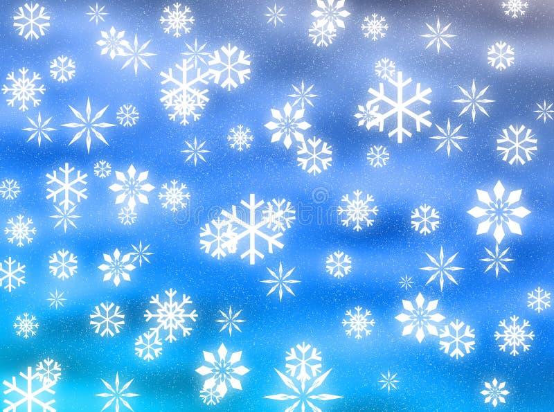 снежинки неба иллюстрация вектора