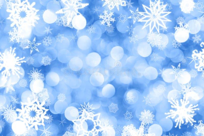 снежинки предпосылки иллюстрация вектора