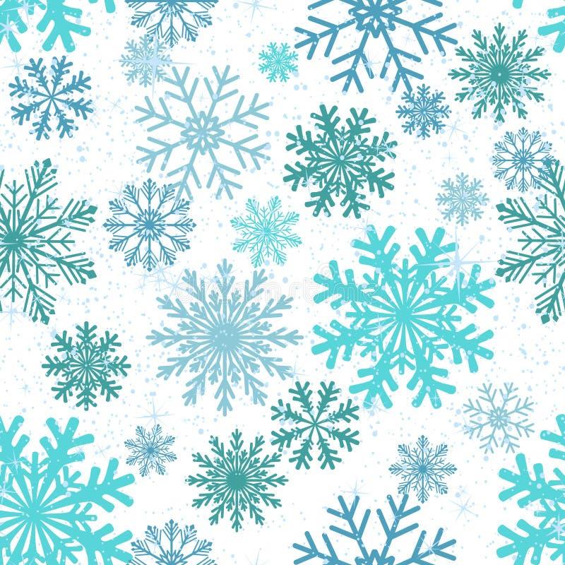 снежинки предпосылки безшовные иллюстрация штока