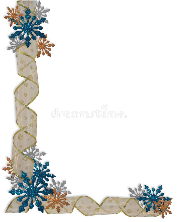 снежинки рождества граници бесплатная иллюстрация