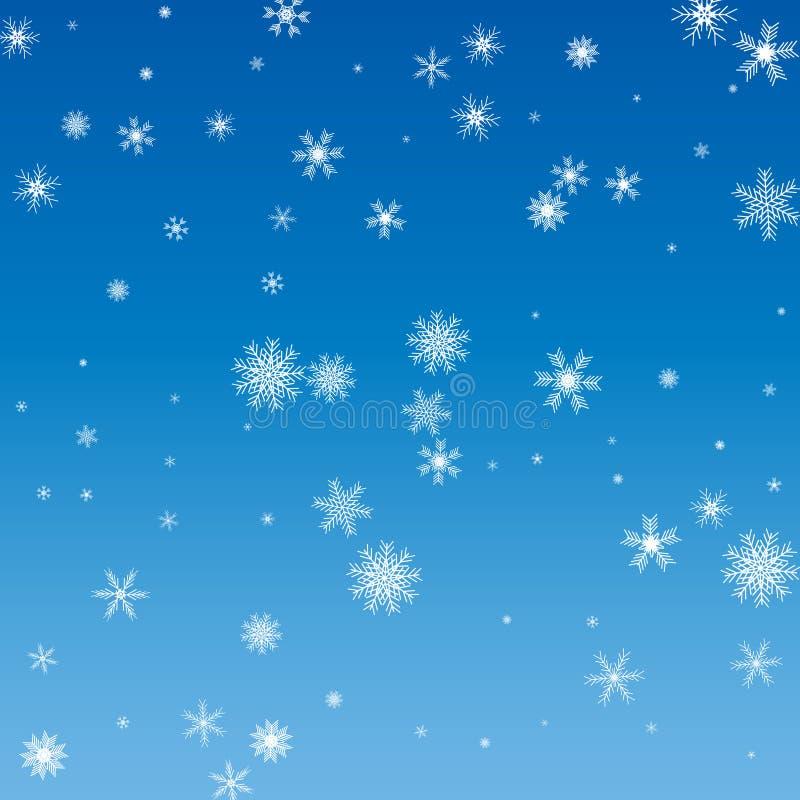 снежинки рождества предпосылки голубые голубые снежинки белые бесплатная иллюстрация