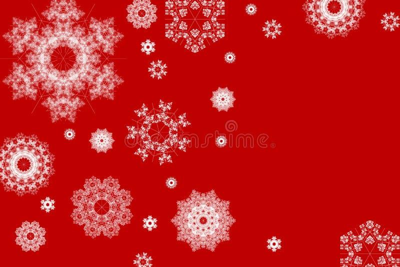 снежинки рождества предпосылки иллюстрация штока