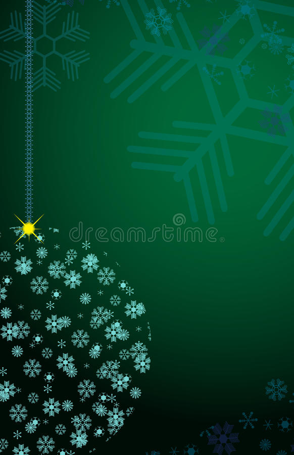 снежинки рождества шарика иллюстрация штока