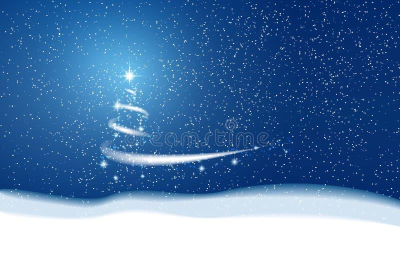 снежинки снежка рождества предпосылки голубые блицкрига Звезды и снег иллюстрация штока