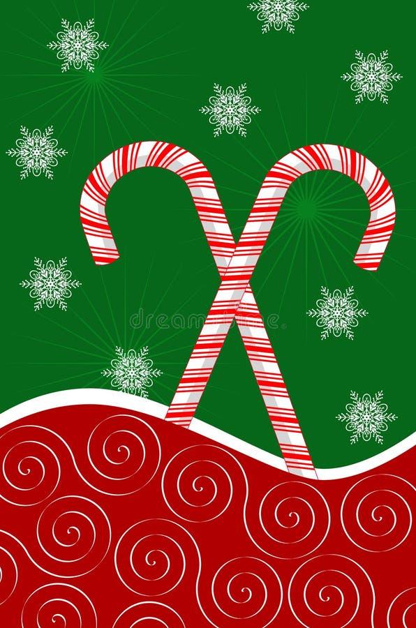 снежинки тросточек конфеты бесплатная иллюстрация