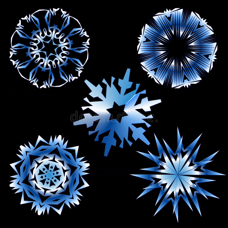 снежинки иллюстрация вектора