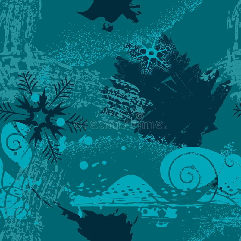 снежинки grunge предпосылки иллюстрация штока