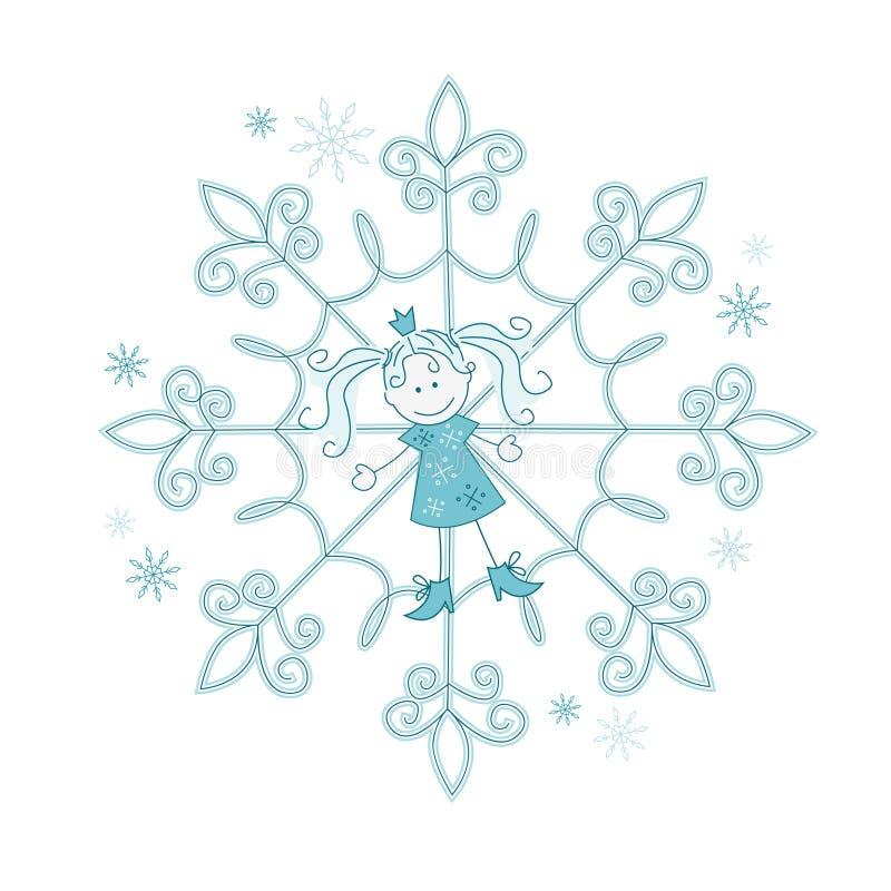 Картинки снежинок девочек