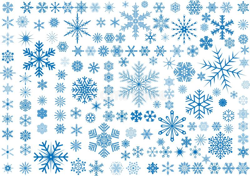 150 снежинок стоковое фото rf