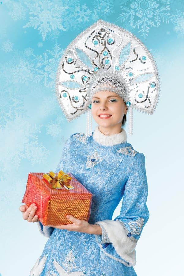 Снежк-девушка стоковое изображение rf
