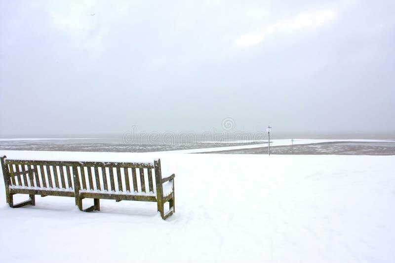 снежное стенда пустое стоковые фотографии rf