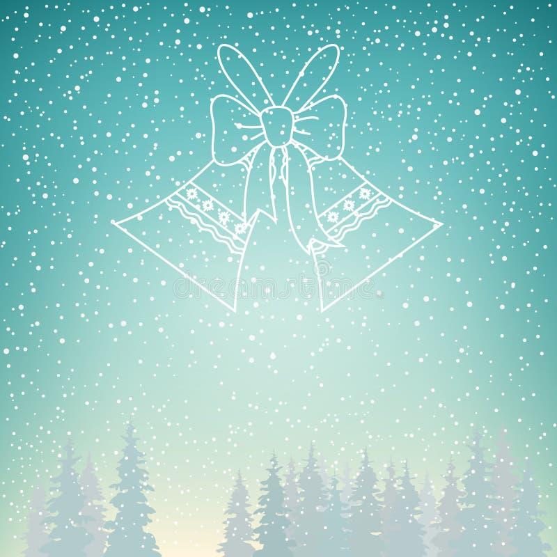 Снежности и звон колоколы праздника бесплатная иллюстрация