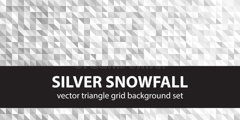 Снежности картины треугольника установленные серебряные стоковое изображение rf