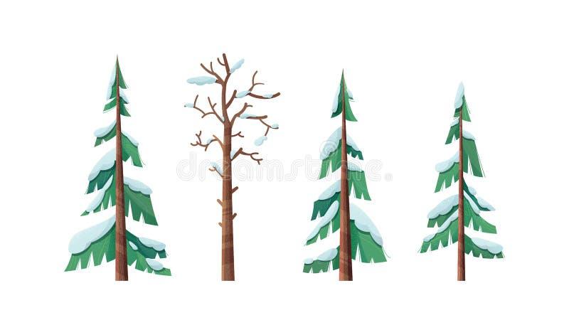 Снежно-шапчатые спринцовые иллюстрации иллюстрация вектора