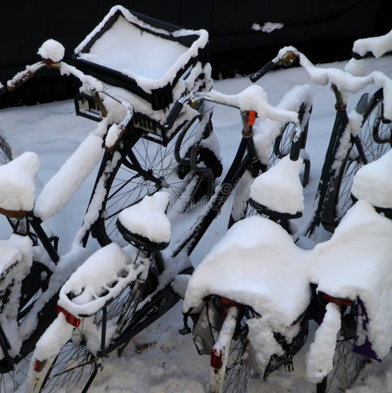Download снежок велосипедов стоковое фото. изображение насчитывающей ландшафт - 18386586