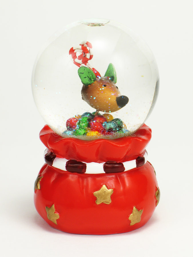 снежок глобуса рождества стоковое фото