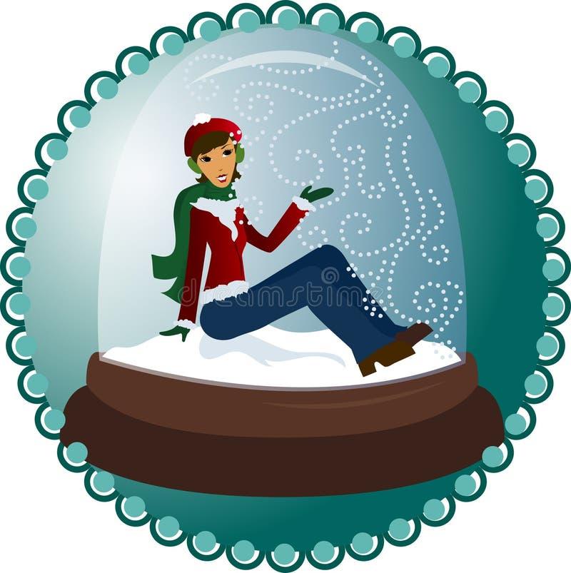снежок глобуса иллюстрация вектора