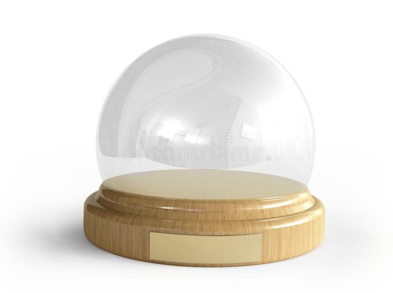 снежок глобуса empti иллюстрация вектора