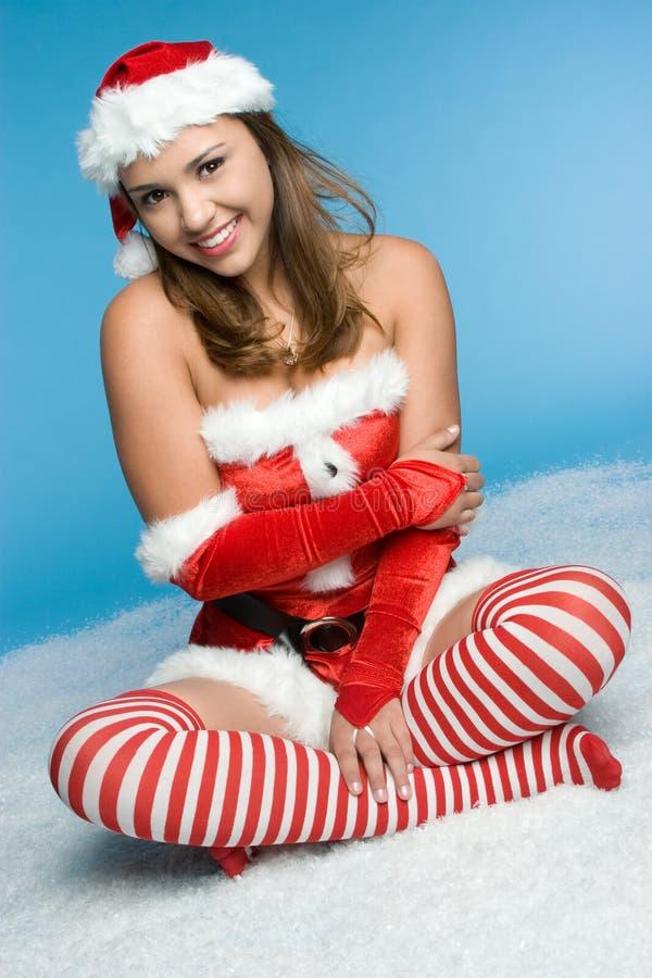 снежок девушки рождества стоковое изображение
