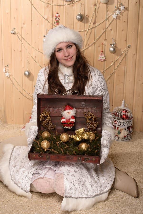 снежок девушки ся стоковые изображения