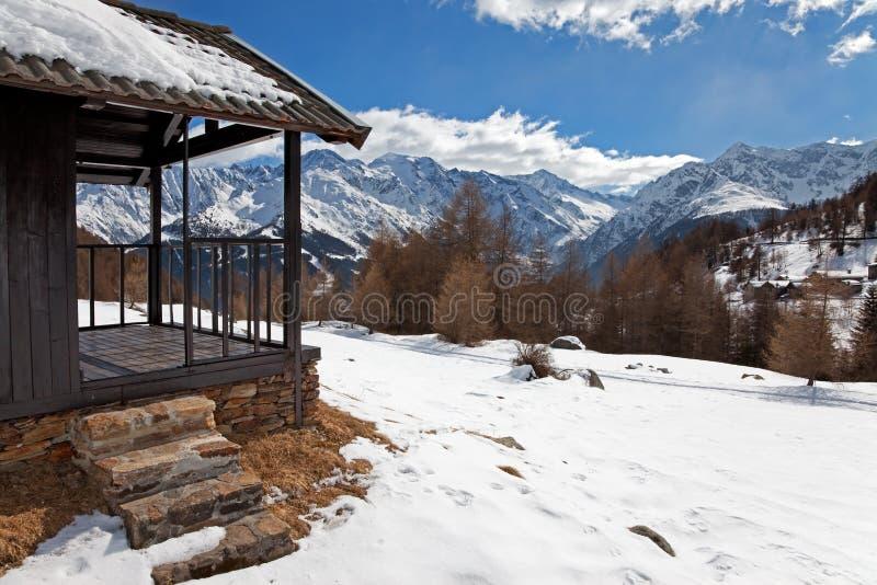 снежок кабины стоковое фото