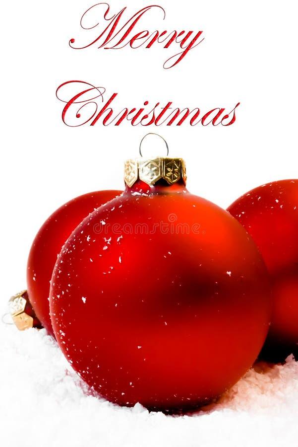 снежок красного цвета рождества шариков стоковые фото