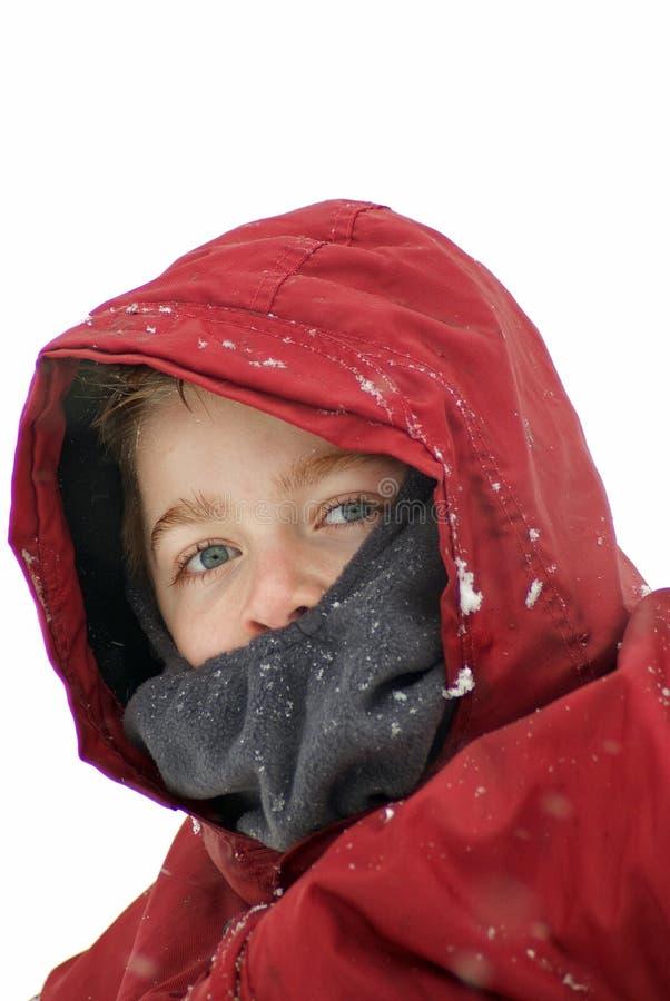 снежок мальчика стоковая фотография rf