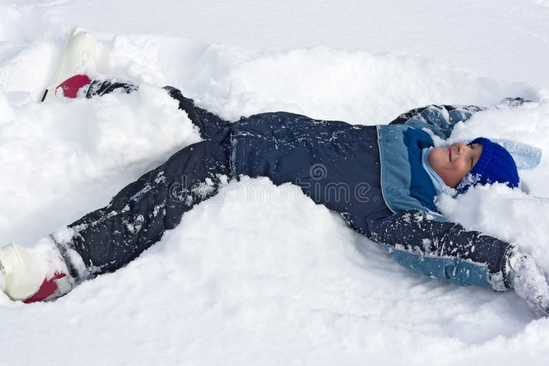 снежок мальчика стоковое фото