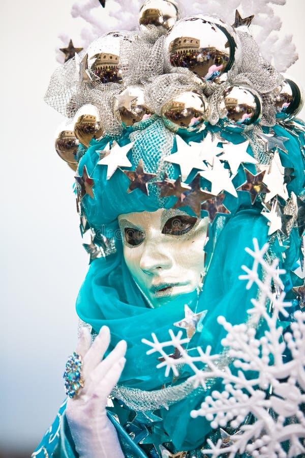 снежок маски хлопь venetian стоковое фото rf