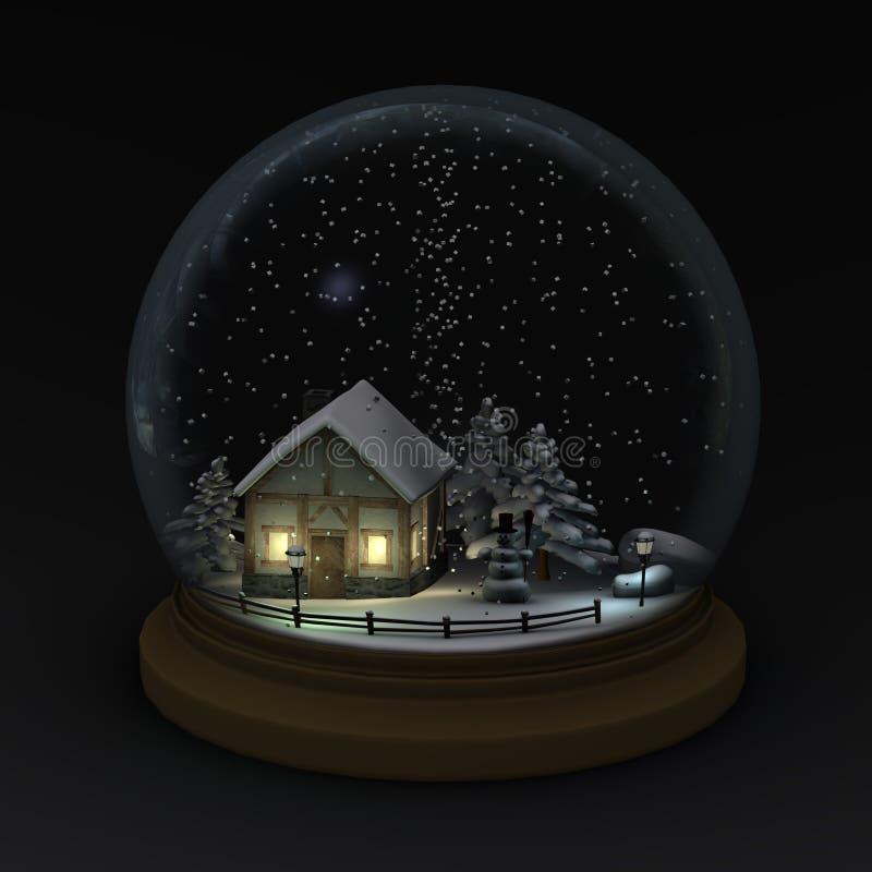 снежок места глобуса иллюстрация вектора