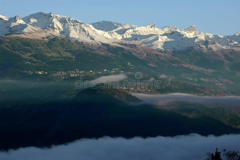 снежок Монтаны crans первый стоковое изображение