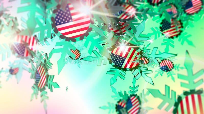 снежок предпосылки падая флаг США