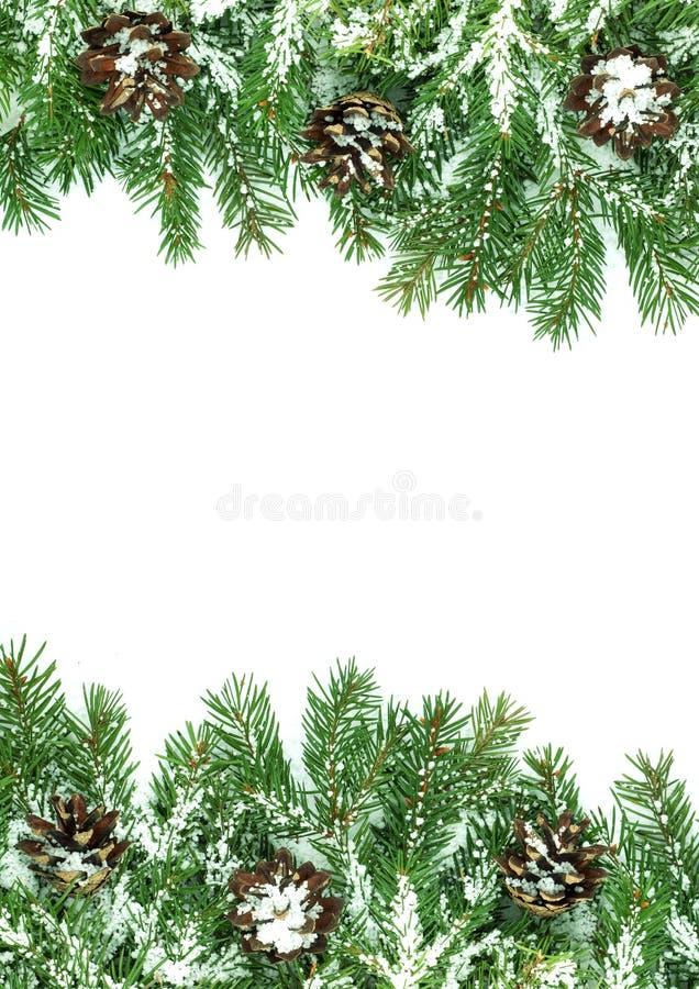 снежок рамок рождества стоковая фотография rf