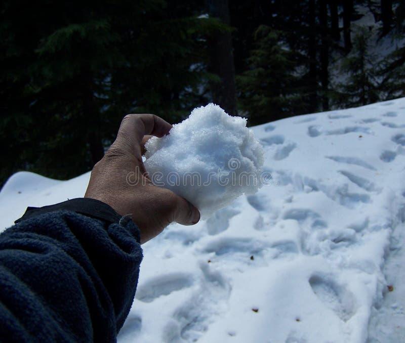 снежок руки стоковые изображения rf