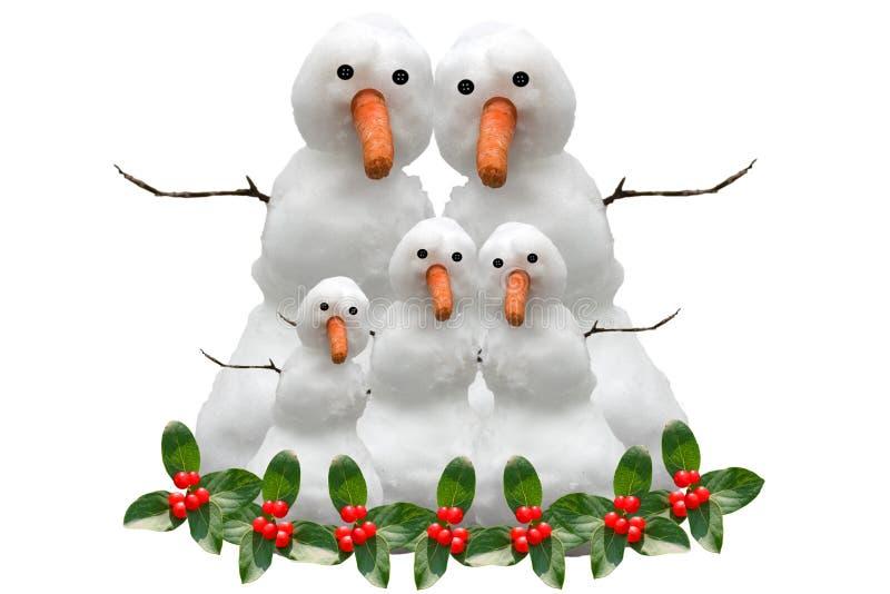 снежок семьи рождества стоковые фотографии rf