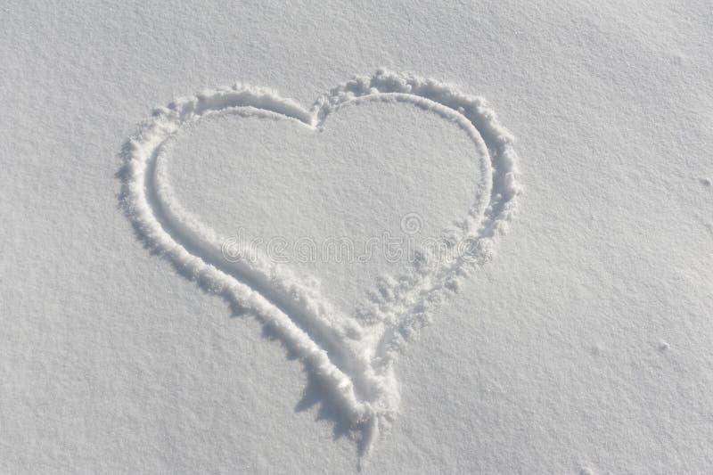 снежок сердца стоковое изображение