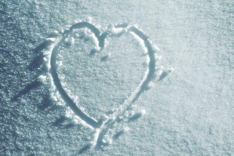 снежок сердца стоковая фотография