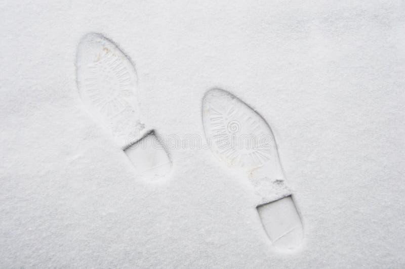 снежок следа ноги стоковая фотография