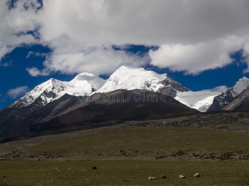 снежок Тибет горы стоковые фотографии rf