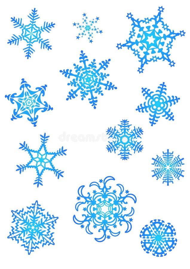 снежок хлопьев иллюстрация вектора