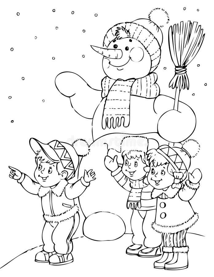 снежок человека иллюстрация вектора